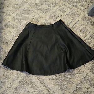 Lauren Conrad faux leather skater skirt